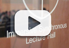 Entrance to the Immersive Synchronous Lecture Hall in Loree Hall