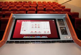 Digital Classroom Podium touchscreen interface